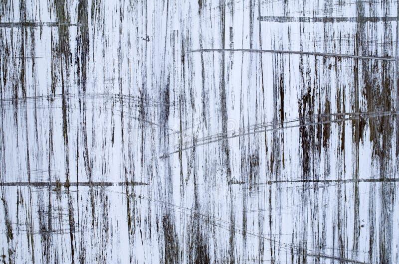 Scribble абстрактной краски черно-белый на стене стоковые фотографии rf