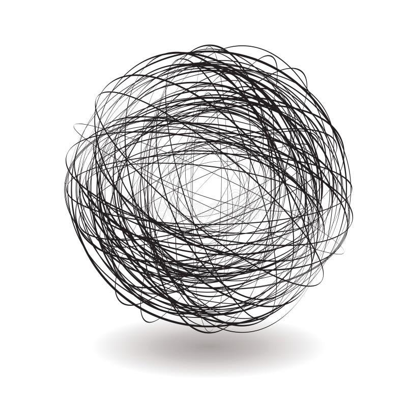 scribble одиночный иллюстрация вектора