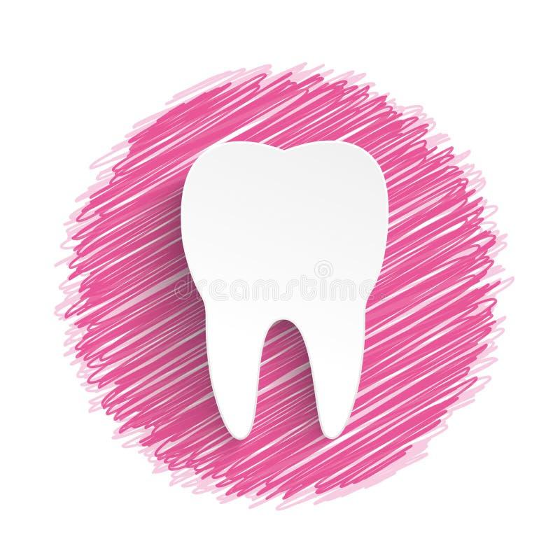 Scribble пинка зуба иллюстрация штока