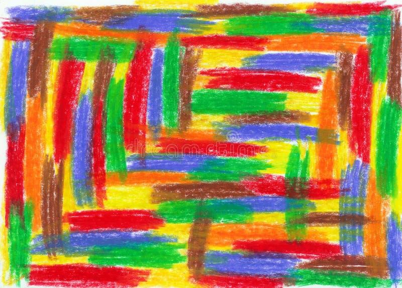 scribble ребенка иллюстрация вектора