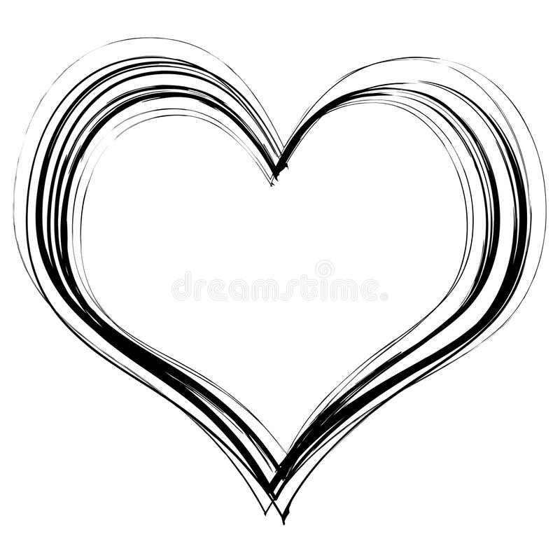 scribble сердца иллюстрация штока