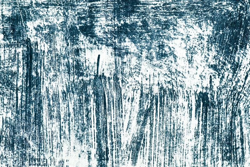 Scribble синих чернил на белой поверхностной предпосылке grunge стоковые фотографии rf