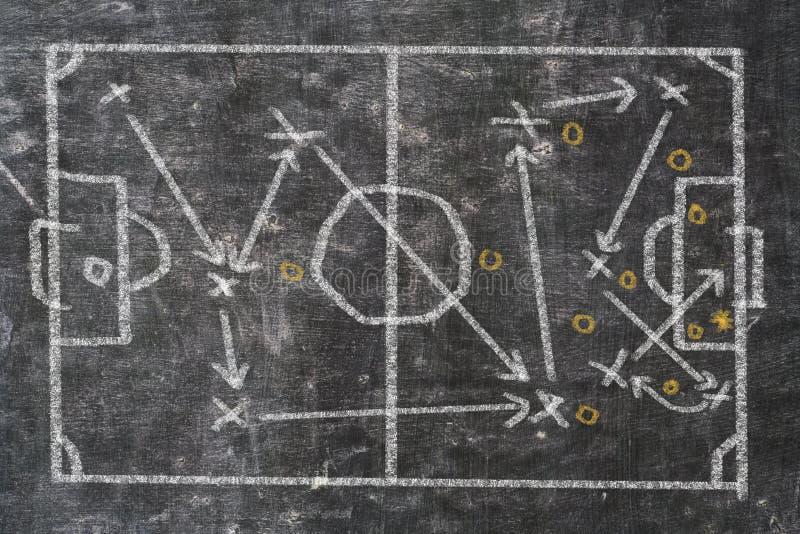 Scribble стратегии футбольного матча на классн классном стоковая фотография rf