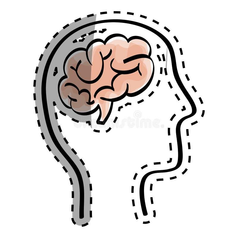 Scribble человеческого мозга стоковые фотографии rf