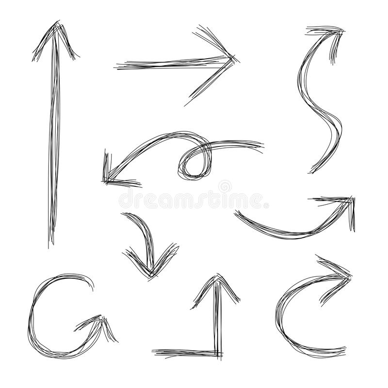 Scribble Arrows vector illustration