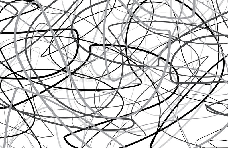Scribble black and white Background. Scribble, knitting black and white Background Lines royalty free illustration