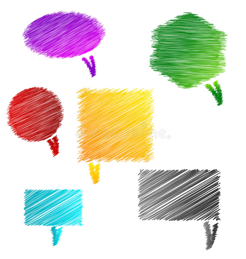 Download Scribble Chat bubbles stock illustration. Image of clean - 27447667