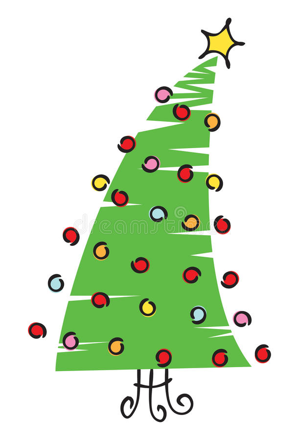 Scribble Christmas Tree Illustration Stock Photography