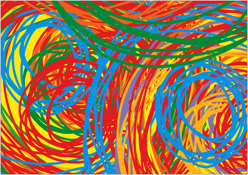 Scribble Colorful Background. Scribble, knitting Colorful Background Lines royalty free illustration