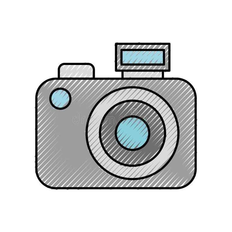 Download Scribble Cute Grey Camera Cartoon Stock Vector