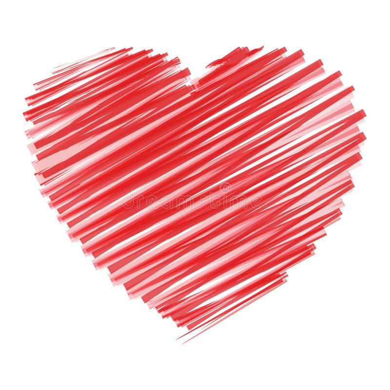 Scribble Heart stock image