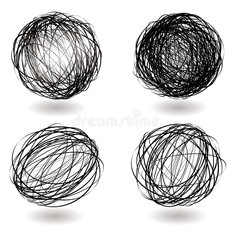 Free Scribble Nest Variation Stock Images - 8104114