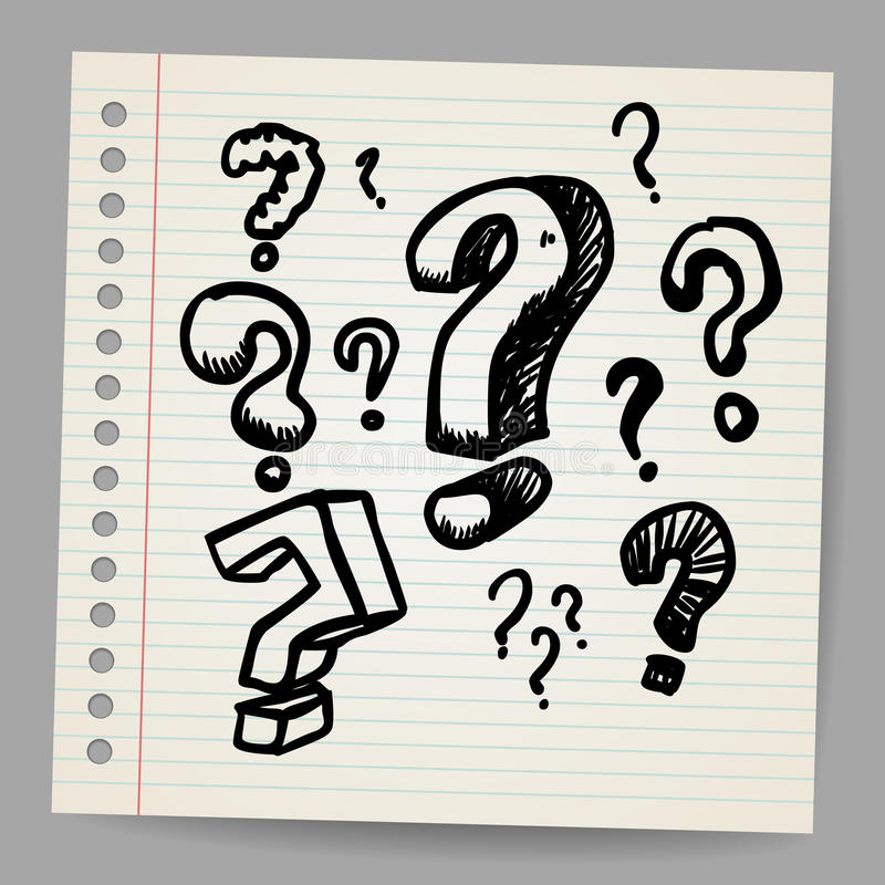 Download Scribble question marks stock illustration. Image of notepad - 27913341