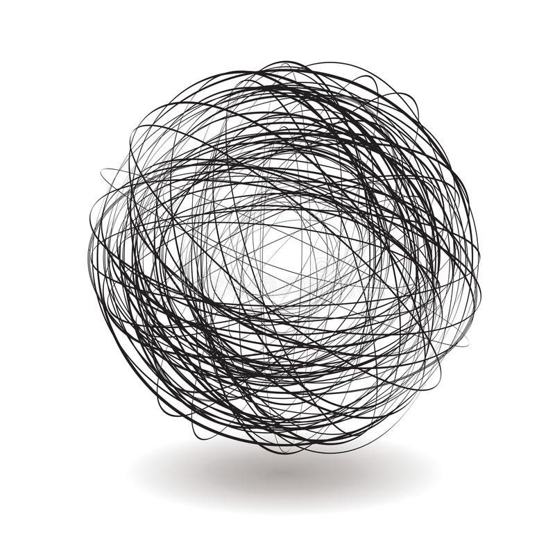 Scribble single vector illustration