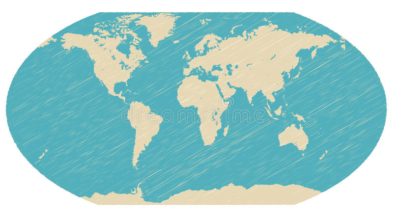 World globe map vector stock illustration