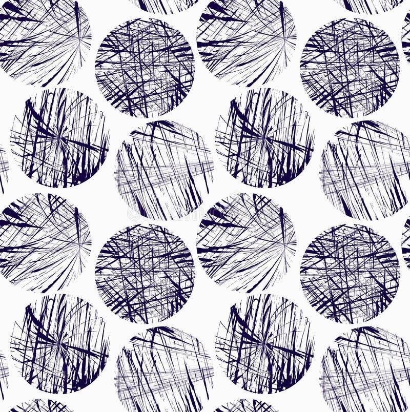 Scribbled голубые круги иллюстрация вектора