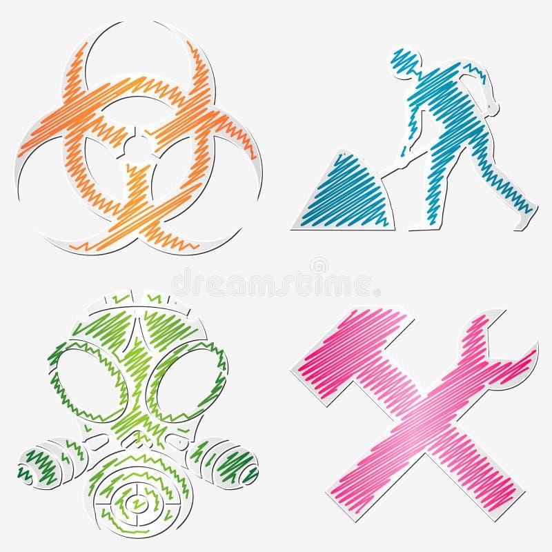 Download Scribbled symbols stock vector. Illustration of tools - 22205782