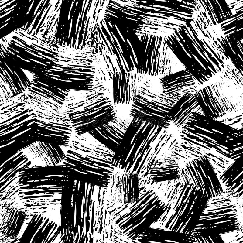Seamless Pattern hand drawn with scribble Smear. Seamless Pattern with hand drawn black scribble Smear. Abstract grunge texture. Vector illustration stock illustration