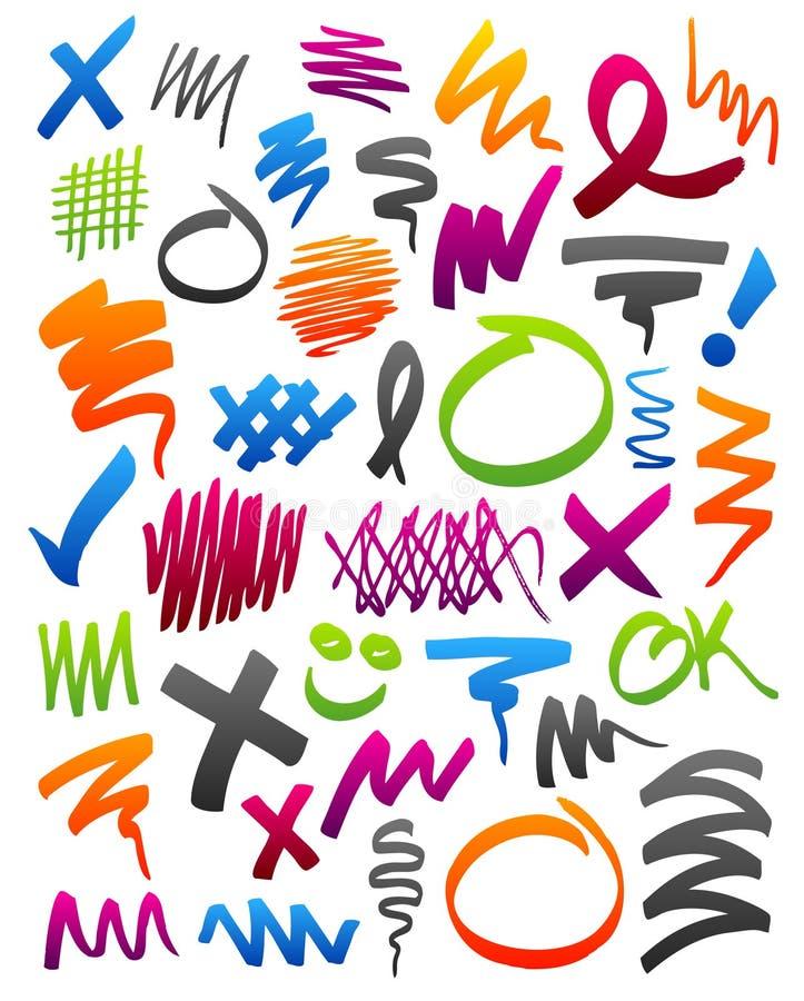Scribbles do marcador ilustração royalty free