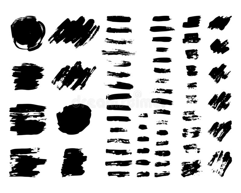 Hand drawn Paint Scribble Stains. Set of Sketch Scribble Smears. Hand drawn Paint Scribble Stains. Vector illustration vector illustration