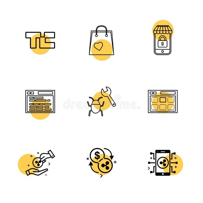 scricchiolio di tecnologia, sacchetto della spesa, lockes, sito Web, insetto, web, mone royalty illustrazione gratis