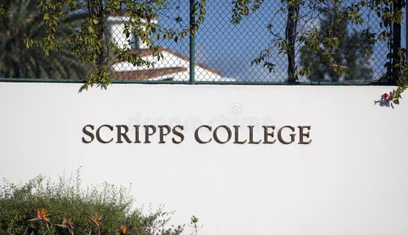Scripps College Sign stock photos
