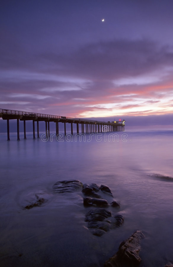 Scripps pier royalty free stock photos