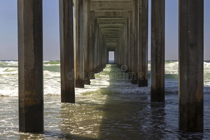 Scripps Pier Salk Institute UCSD San Diego fotografie stock