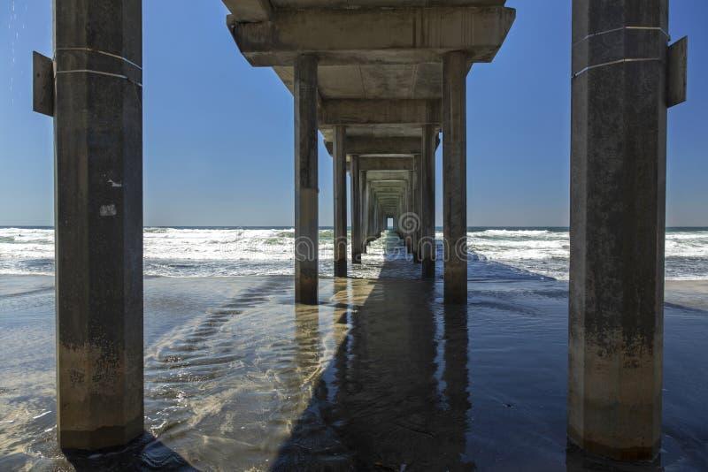 Scripps Pier Salk Institute UCSD San Diego imágenes de archivo libres de regalías