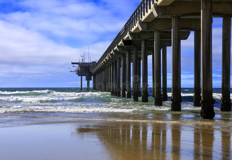 Scripps Pier On a Spring Day royalty free stock images