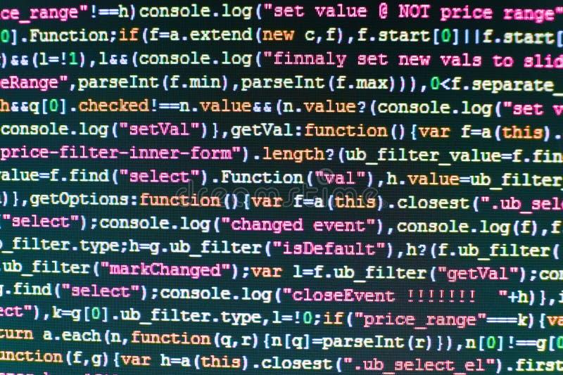 Script procedure creating. Programing workflow abstract algorithm concept. stock photo