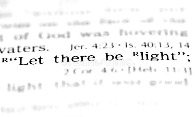 scripture γένεσης στοκ φωτογραφίες