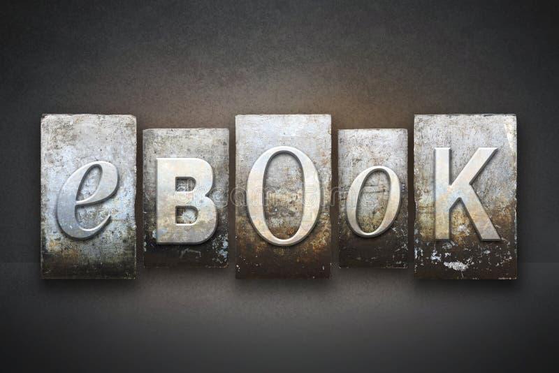 Scritto tipografico del libro elettronico immagini stock libere da diritti