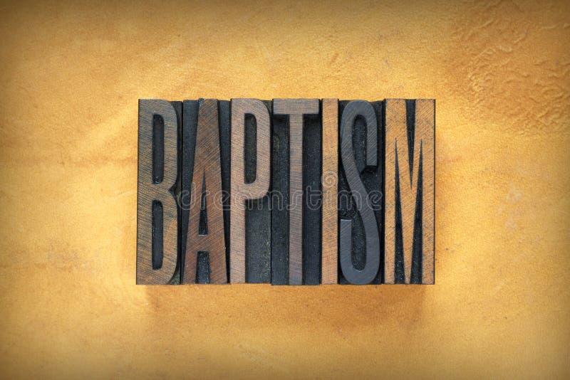 Scritto tipografico di battesimo immagine stock