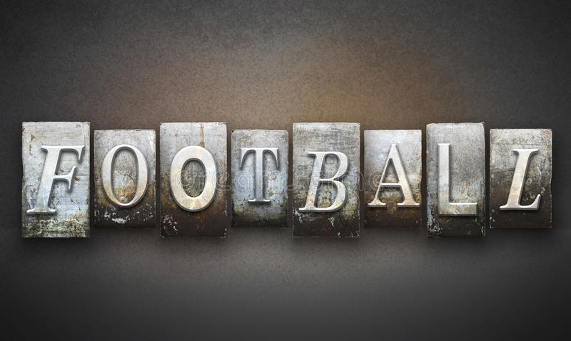 Scritto tipografico di calcio fotografia stock