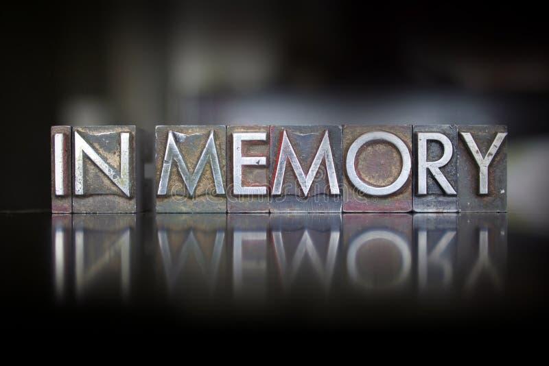 In scritto tipografico di memoria fotografia stock libera da diritti