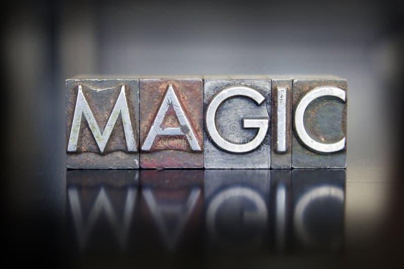 Scritto tipografico magico fotografia stock libera da diritti