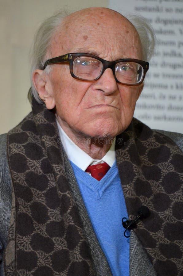 Scrittore italiano sloveno Boris Pahor immagine stock