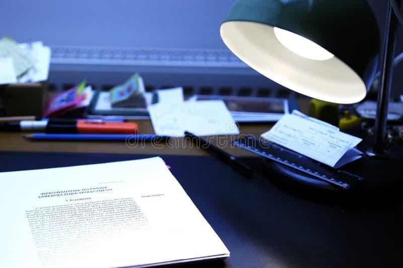 Scrittorio fotografia stock libera da diritti