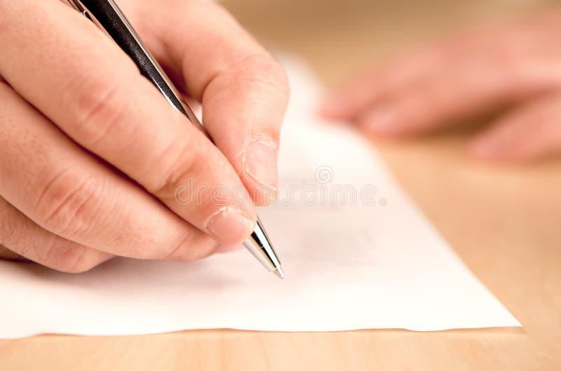 Scrittura fotografia stock libera da diritti