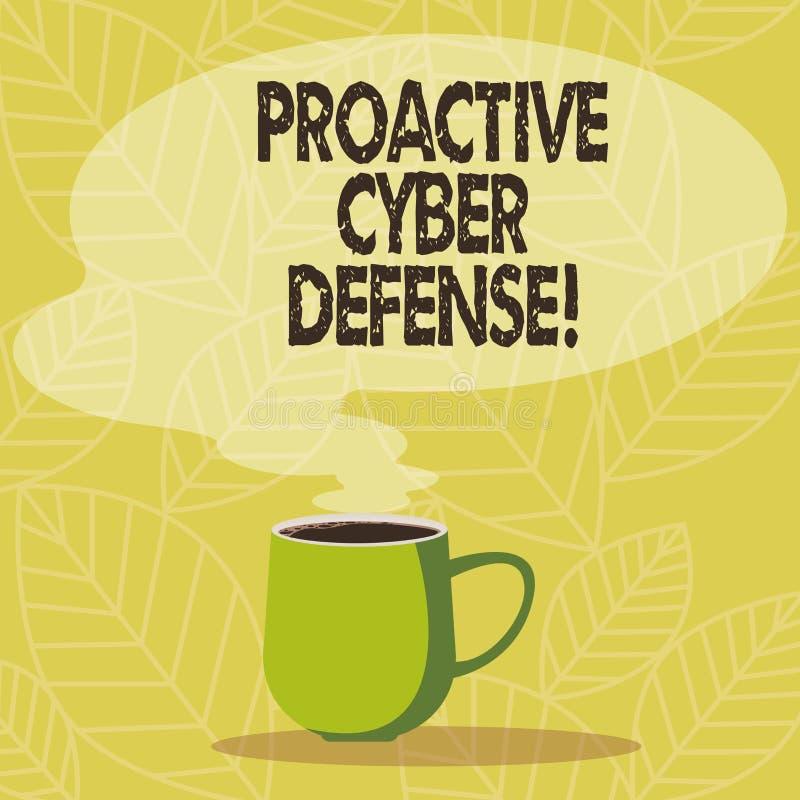 Scrittura concettuale della mano che mostra difesa cyber dinamica Foto di affari che montra anticipazione per opporrsi ad un atta royalty illustrazione gratis