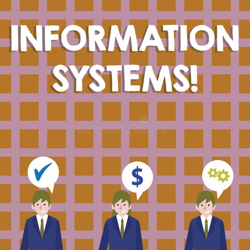 Scrittura concettuale della mano che mostra i sistemi di informazione Foto di affari che montra studio sui sistemi con un riferim royalty illustrazione gratis