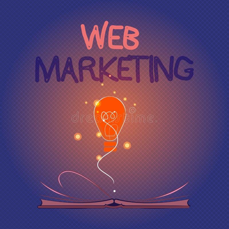 Scrittura concettuale della mano che mostra introduzione sul mercato di web Foto di affari che montra pubblicità di commercio ele royalty illustrazione gratis