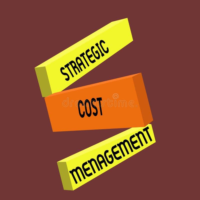 Scrittura concettuale della mano che mostra la gestione strategica di costo Testo della foto di affari che combina processo decis royalty illustrazione gratis