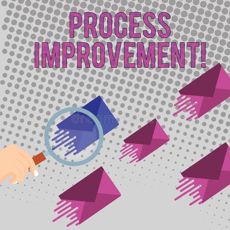 Scrittura concettuale della mano che mostra miglioramento trattato Sforzo in corso del testo della foto di affari per migliorare  illustrazione di stock