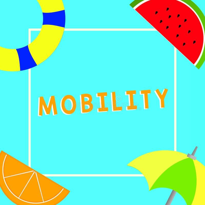 Scrittura concettuale della mano che mostra mobilità Capacità del testo della foto di affari di muoversi o essere adattabilità fa royalty illustrazione gratis