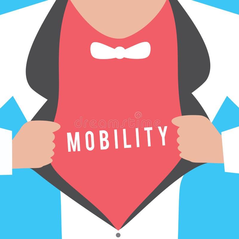 Scrittura concettuale della mano che mostra mobilità Capacità del testo della foto di affari di muoversi o essere adattabilità fa illustrazione di stock