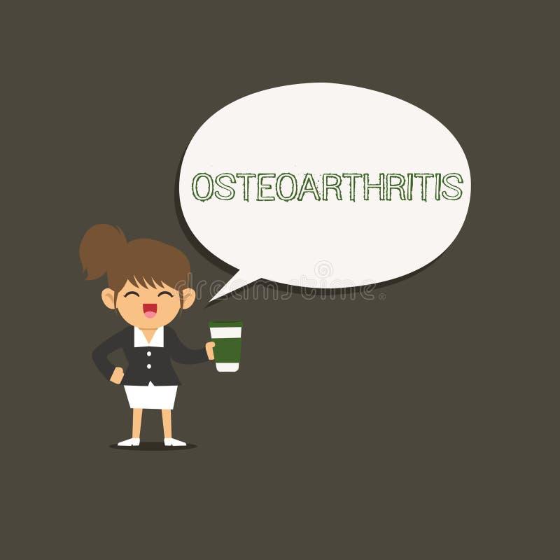 Scrittura concettuale della mano che mostra osteoartrite Foto di affari che montra degenerazione di cartilagine unita e royalty illustrazione gratis