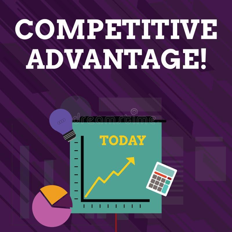 Scrittura concettuale della mano che mostra vantaggio competitivo Bordo della societ? del testo della foto di affari sopra un alt illustrazione vettoriale