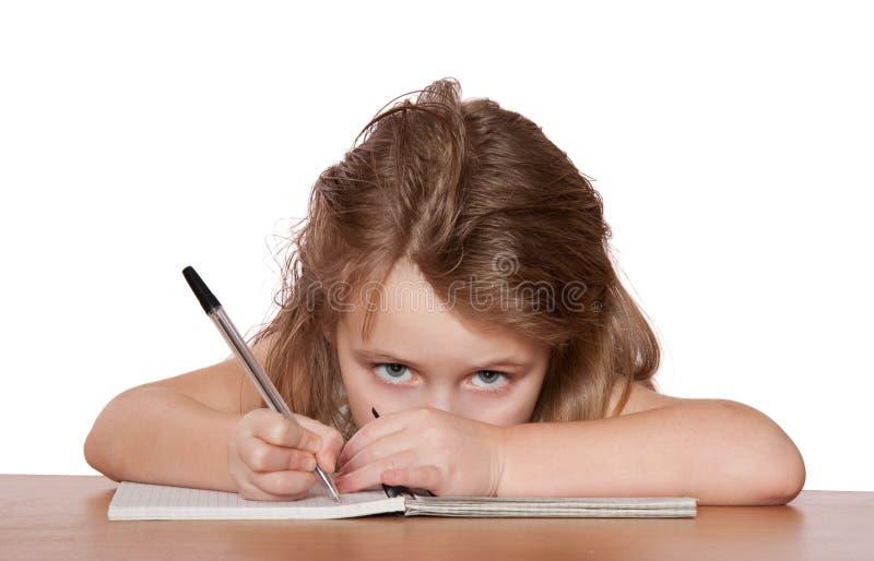 Scrittura del bambino immagini stock